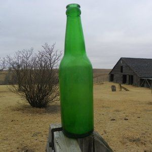 Vintage Blank Beer Soda Pop Bottle Decor